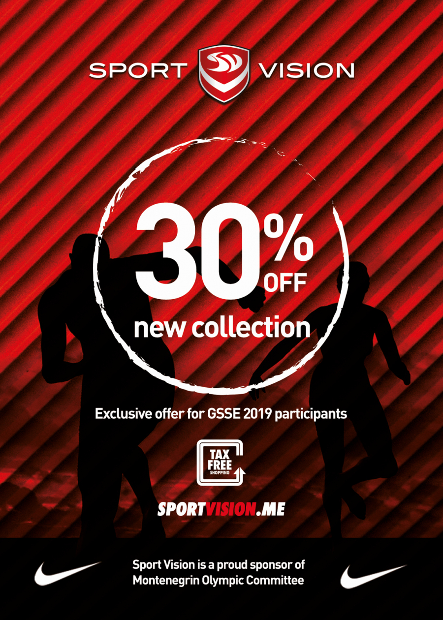 30% off sports footwear, clothing and equipment - a special offer for GSSE 2019 participants