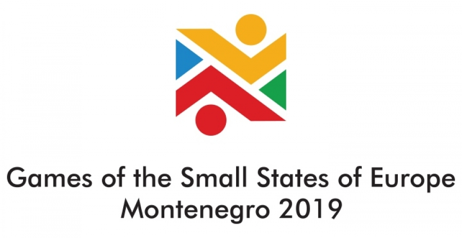 "Logo and slogan for the Games of the Small States of Europe ""Montenegro 2019"""
