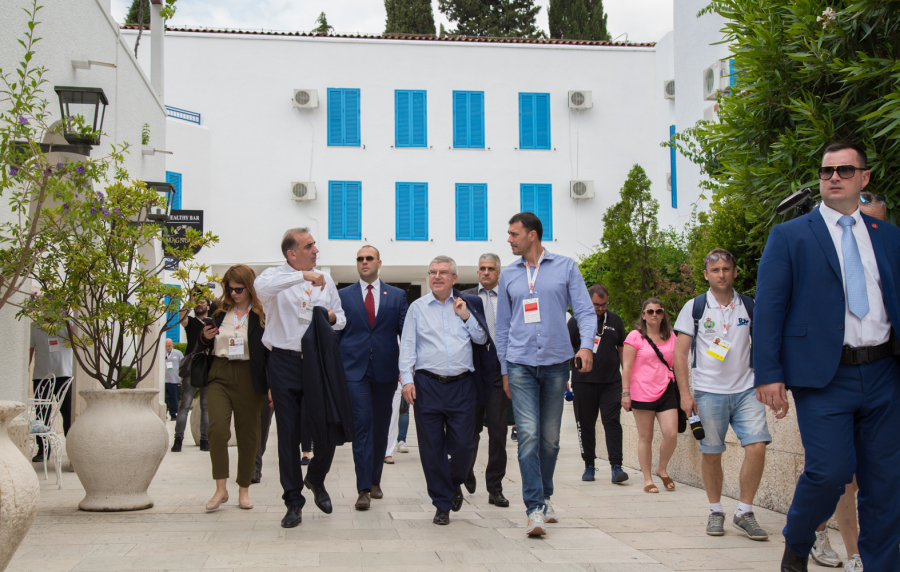 GALLERY: Mr. Thomas Bach visited  the Olympic park